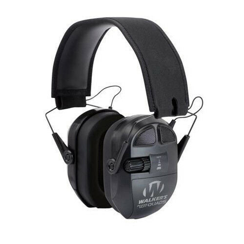 Walkers Game Ear Ultimate Series Power Muff Quads Black Earmuff 27 dB- GWP-XPMQB - Tactical Sports Gear