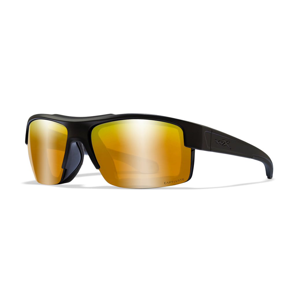 Wiley X WX Compass Sunglasses - Captivate Polarized Bronze Mirror/Matte Black - CCCMP06 - Tactical Sports Gear