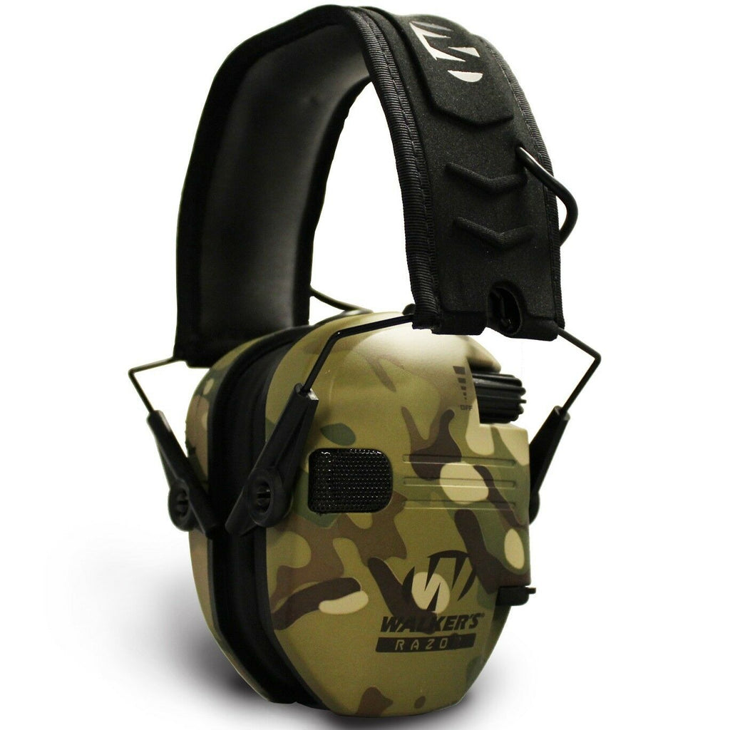 Walkers RAZOR Slim Electronic Hearing Protection Muff - Multicam Camo - Tan - Tactical Sports Gear