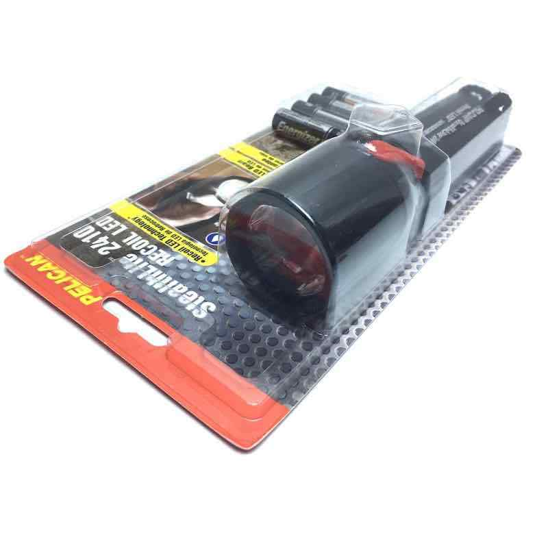 Pelican 2410 Black Recoil LED Stealthlite Flashlight - Tactical Sports Gear