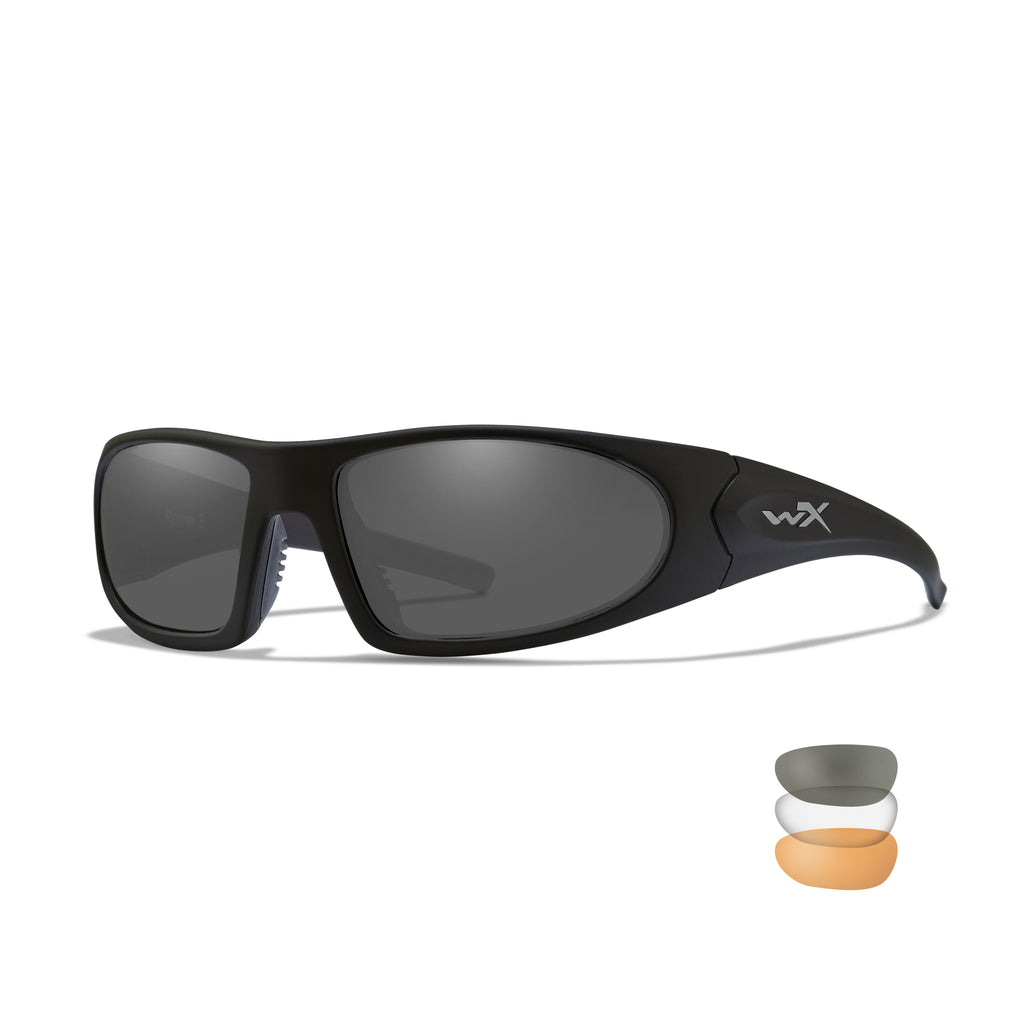 Wiley X Romer 3  Sunglasses - Smoke Grey - Clear - Light Rust Lenses /Matte Black Frame - 1006 - Tactical Sports Gear