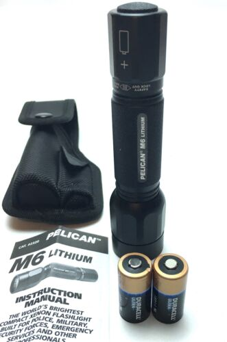 Pelican 2320 M6 Lithium Aluminum Body Flashlight - Black Finish