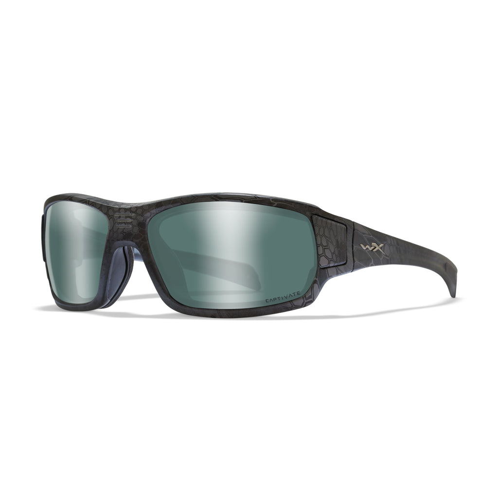 Wiley X WX Breach Sunglasses - Captivate Polarized Platinum Flash/Krpytek Typhon - CCBRH12 - Tactical Sports Gear