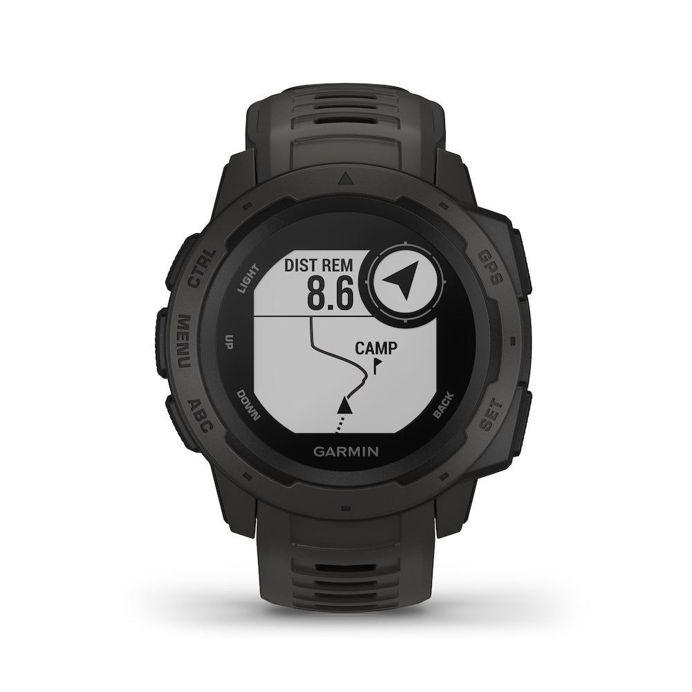 Garmin Instinct Rugged Outdoor GPS Smartwatch - Graphite Watch - Tactical Sports Gear