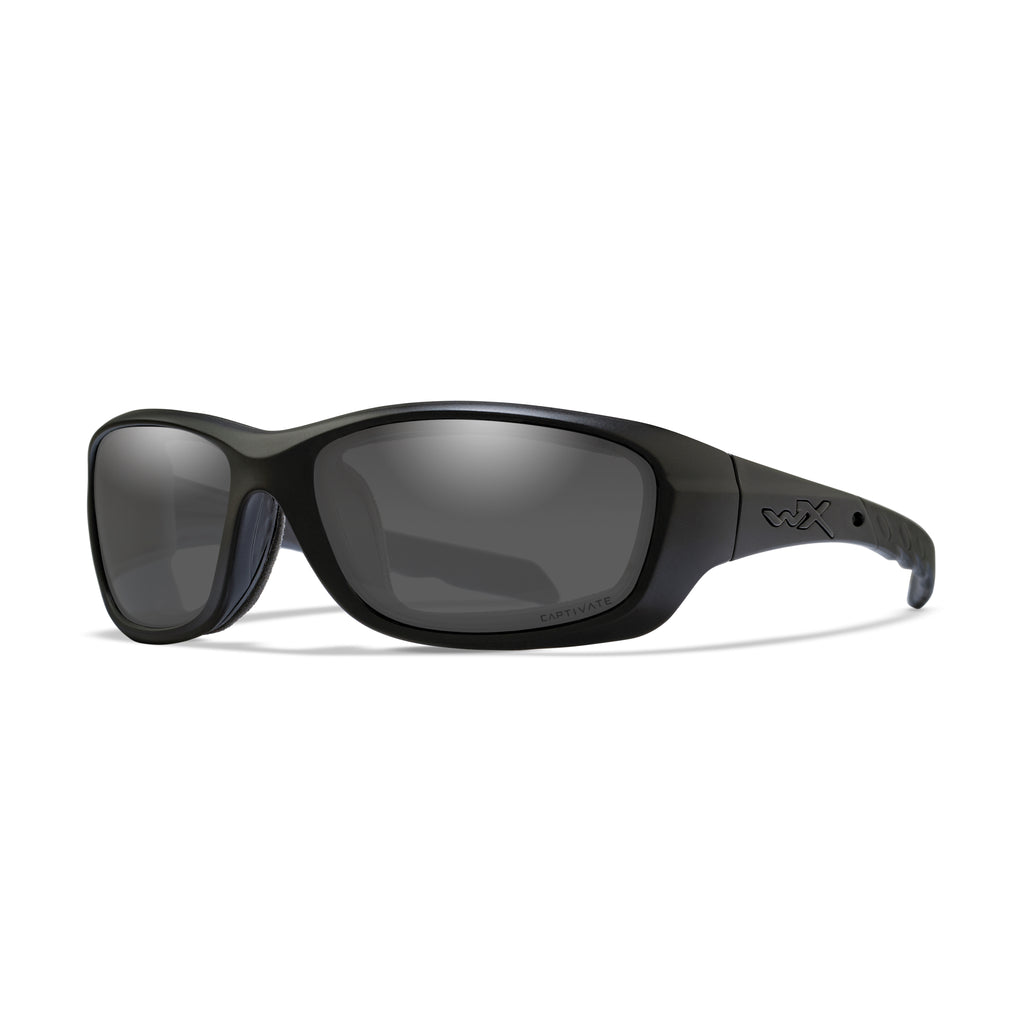 Wiley X WX Gravity Sunglasses - Captivate Polarized Grey/Matte Black - CCGRA08 - Tactical Sports Gear