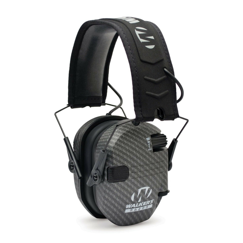 Walkers RAZOR Slim Electronic Hearing Protection Muff - Carbon - GWP-RSEM-CARB - Tactical Sports Gear