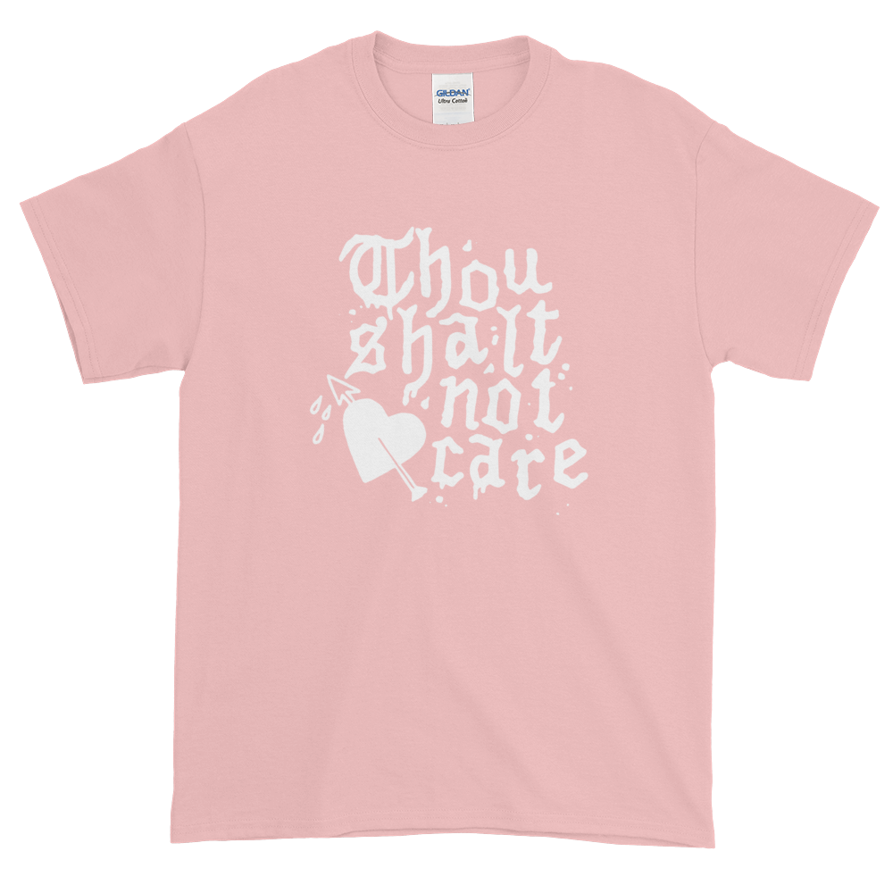 Don't Care T-Shirt Pink