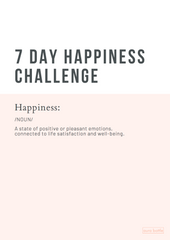 7 Day Happiness Challenge Preview