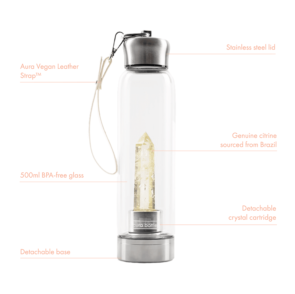 Citrine Aura Bottle™ (Limited Edition) | Crystal Infused Water Bottle
