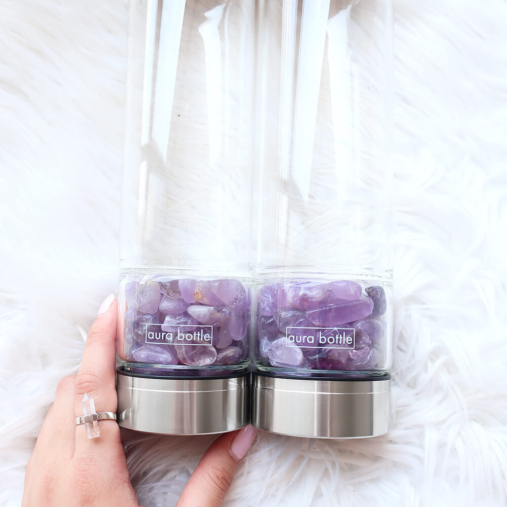 AMETHYST GRATITUDE BUNDLE 450ml | Aura Bottle™ Australia