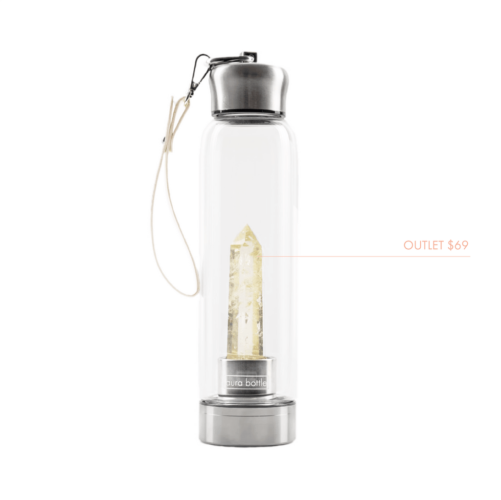 OUTLET Citrine Aura Bottle™ | Crystal Infused Water Bottle