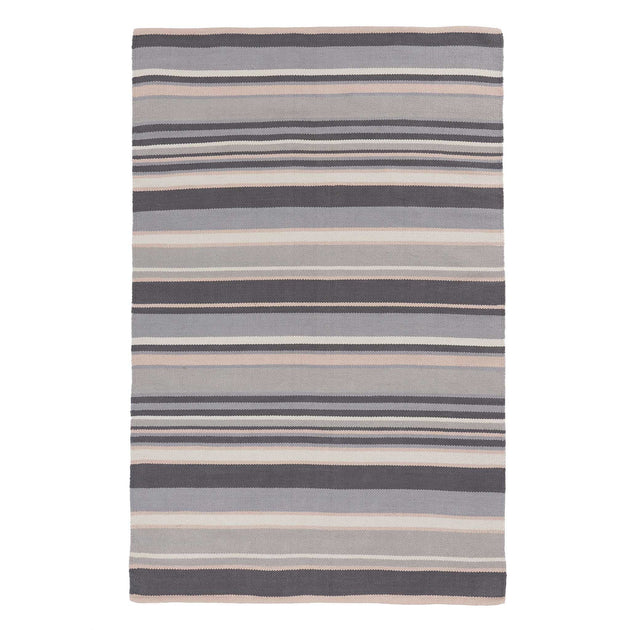 Mandana Rug in dark grey & grey & powder pink | Home & Living inspiration | URBANARA