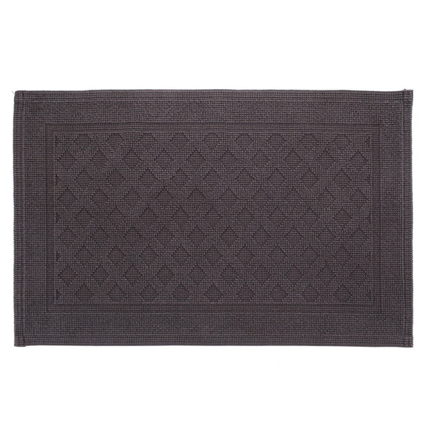 Osuna Bath Mat charcoal, 100% cotton
