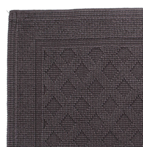 Osuna Bath Mat charcoal, 100% cotton | URBANARA bath mats