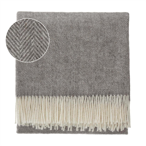 Corcovado blanket, grey & off-white, 50% alpaca wool & 50% merino wool