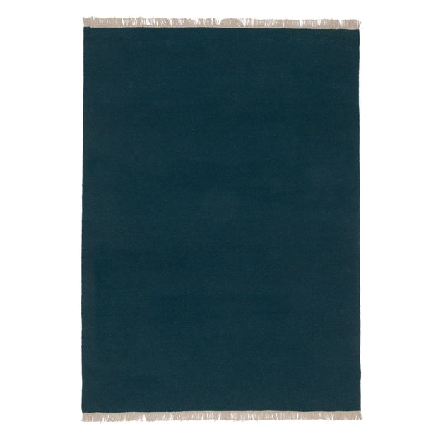 Manu rug in teal, 50% new wool & 50% cotton |Find the perfect wool rugs