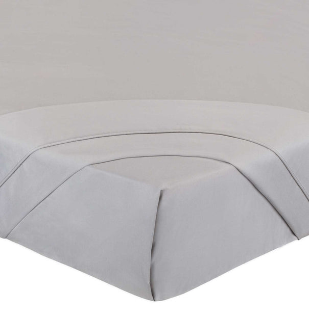 Benais flat sheet, grey, 100% cotton