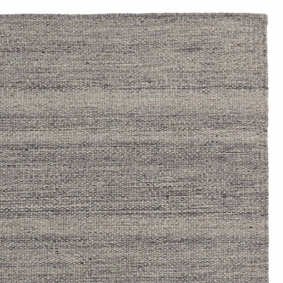 Patan Rug grey melange, 80% wool & 20% organic cotton