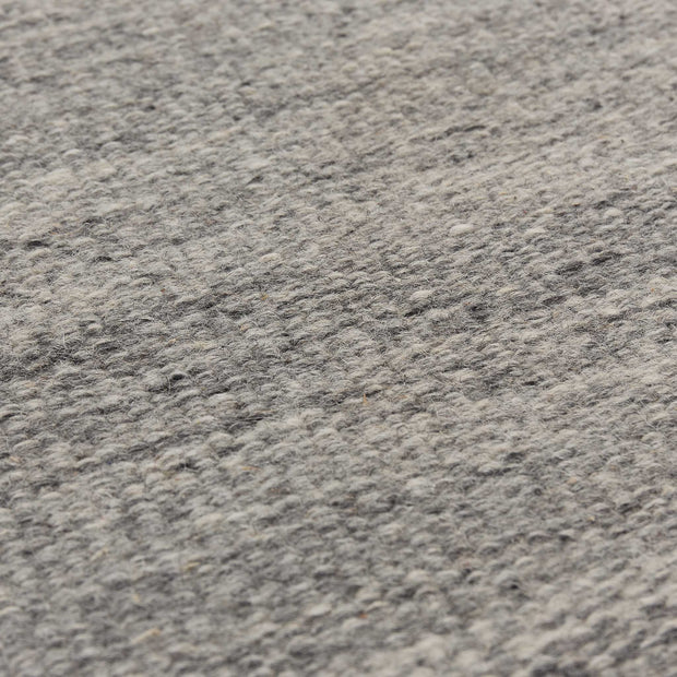 Patan Runner grey melange, 80% wool & 20% organic cotton | High quality homewares
