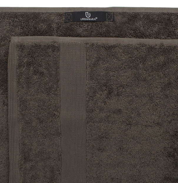 Penela hand towel, grey brown, 100% egyptian cotton | URBANARA cotton towels