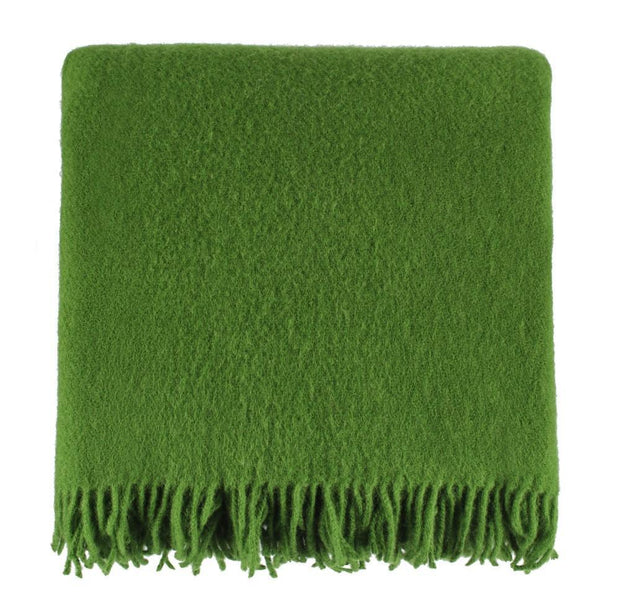 Miramar blanket, green, 100% lambswool