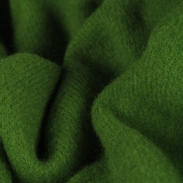 Miramar blanket, green, 100% lambswool |High quality homewares