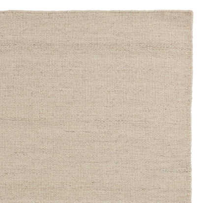 Patan Rug natural white, 80% wool & 20% organic cotton