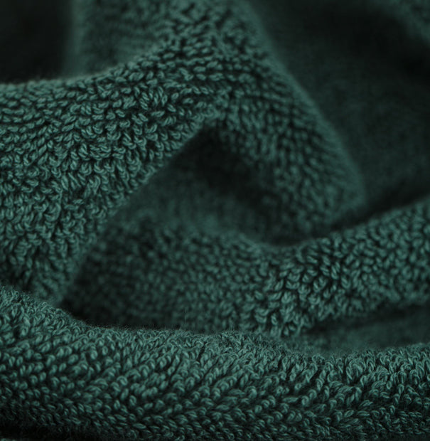 Salema hand towel, dark green, 100% supima cotton |High quality homewares