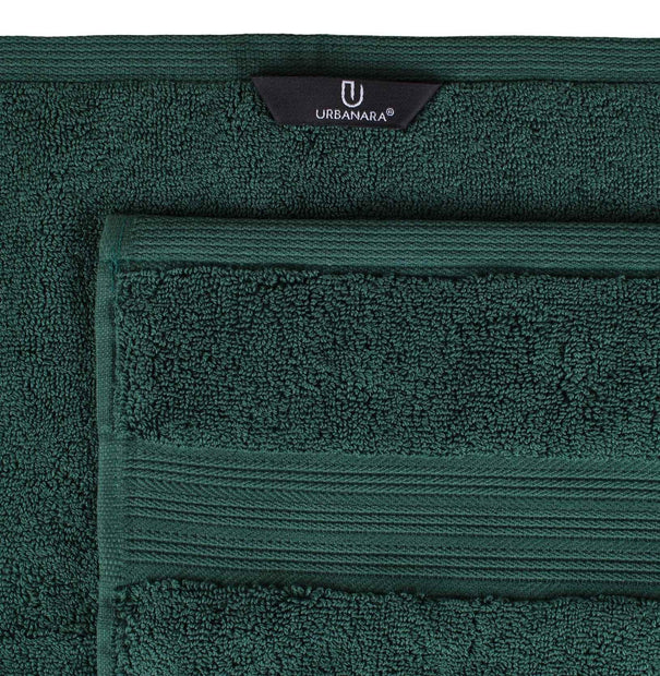 Salema hand towel, dark green, 100% supima cotton | URBANARA cotton towels