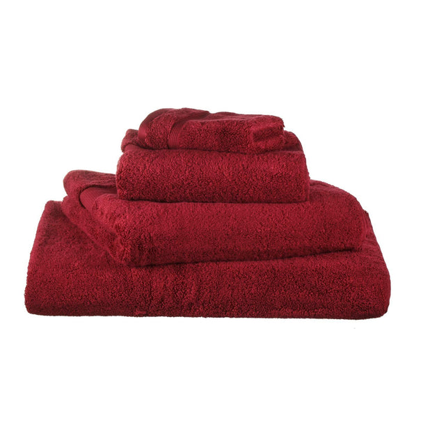 Alvito hand towel, dark red, 100% zero twist cotton