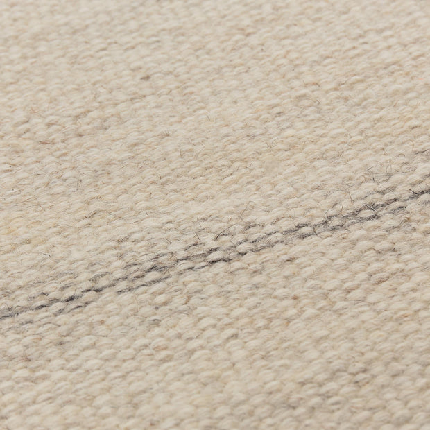 Patan Rug natural white, 80% wool & 20% organic cotton | High quality homewares
