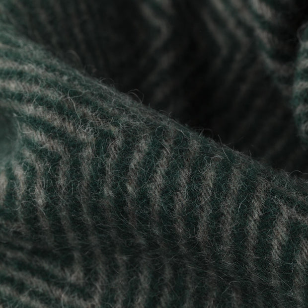 Gotland blanket, green & grey, 100% new wool |High quality homewares