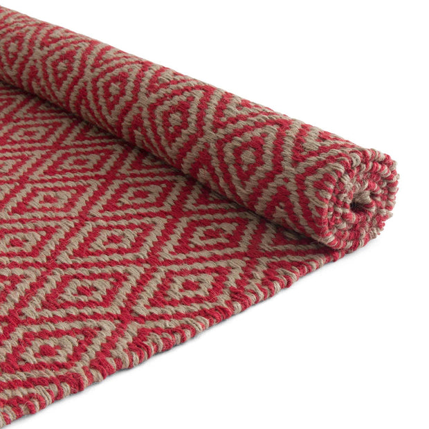 Dasheri Runner red, 100% jute | High quality homewares