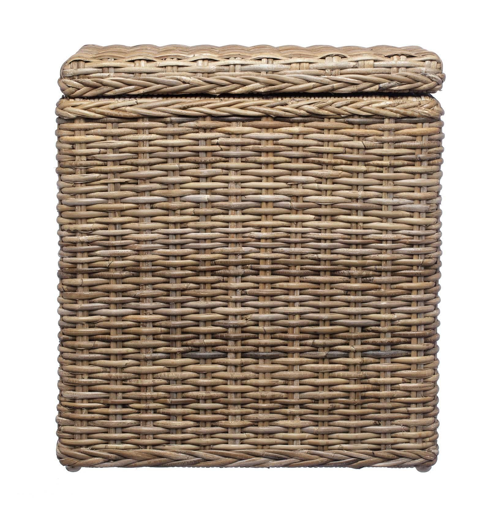 Java laundry basket, grey brown, 100% rattan & 100% cotton