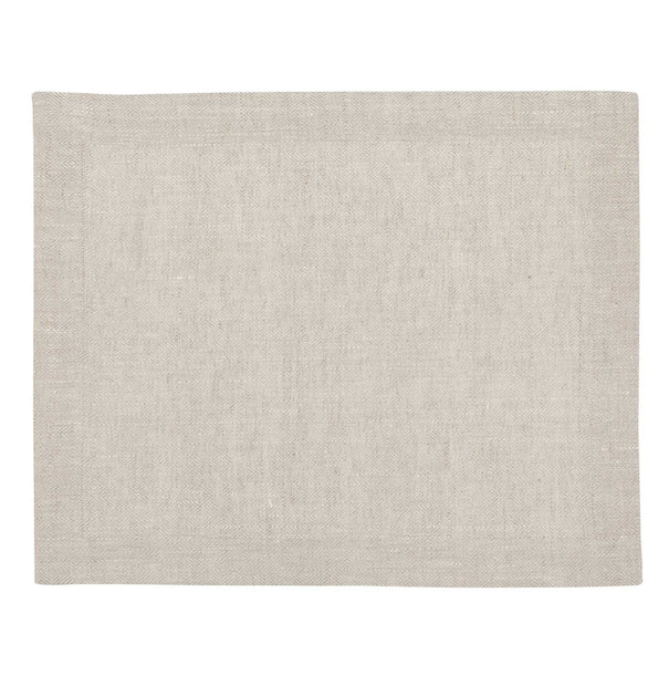 Zarasai place mat, white & natural, 100% linen