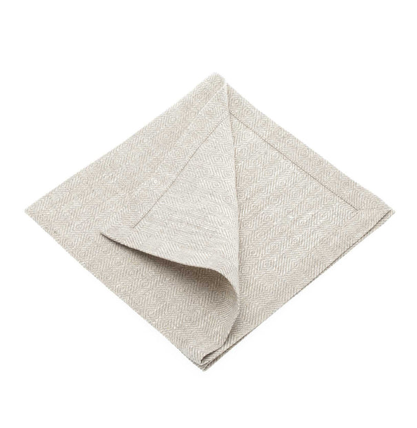 Zarasai table runner, white & natural, 100% linen |High quality homewares