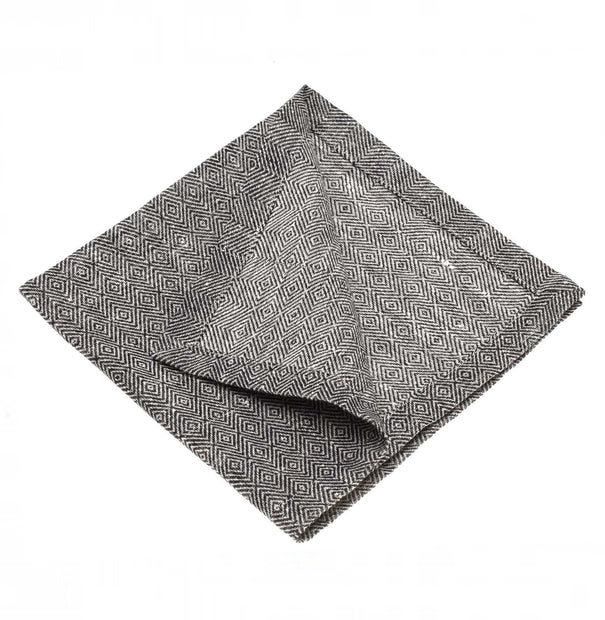 Zarasai place mat, black & white, 100% linen |High quality homewares