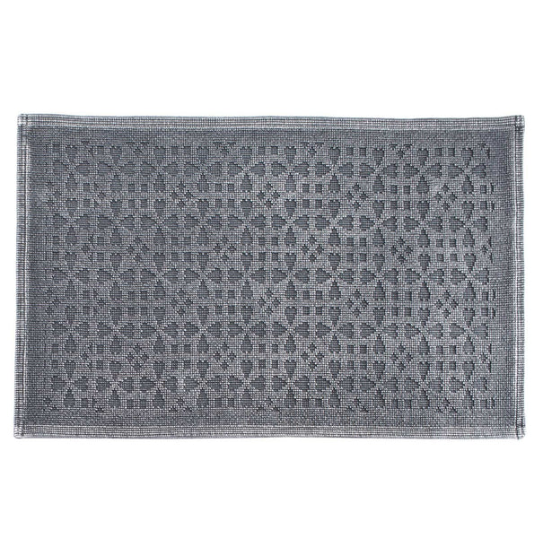 Qasita bath mat, charcoal, 100% cotton