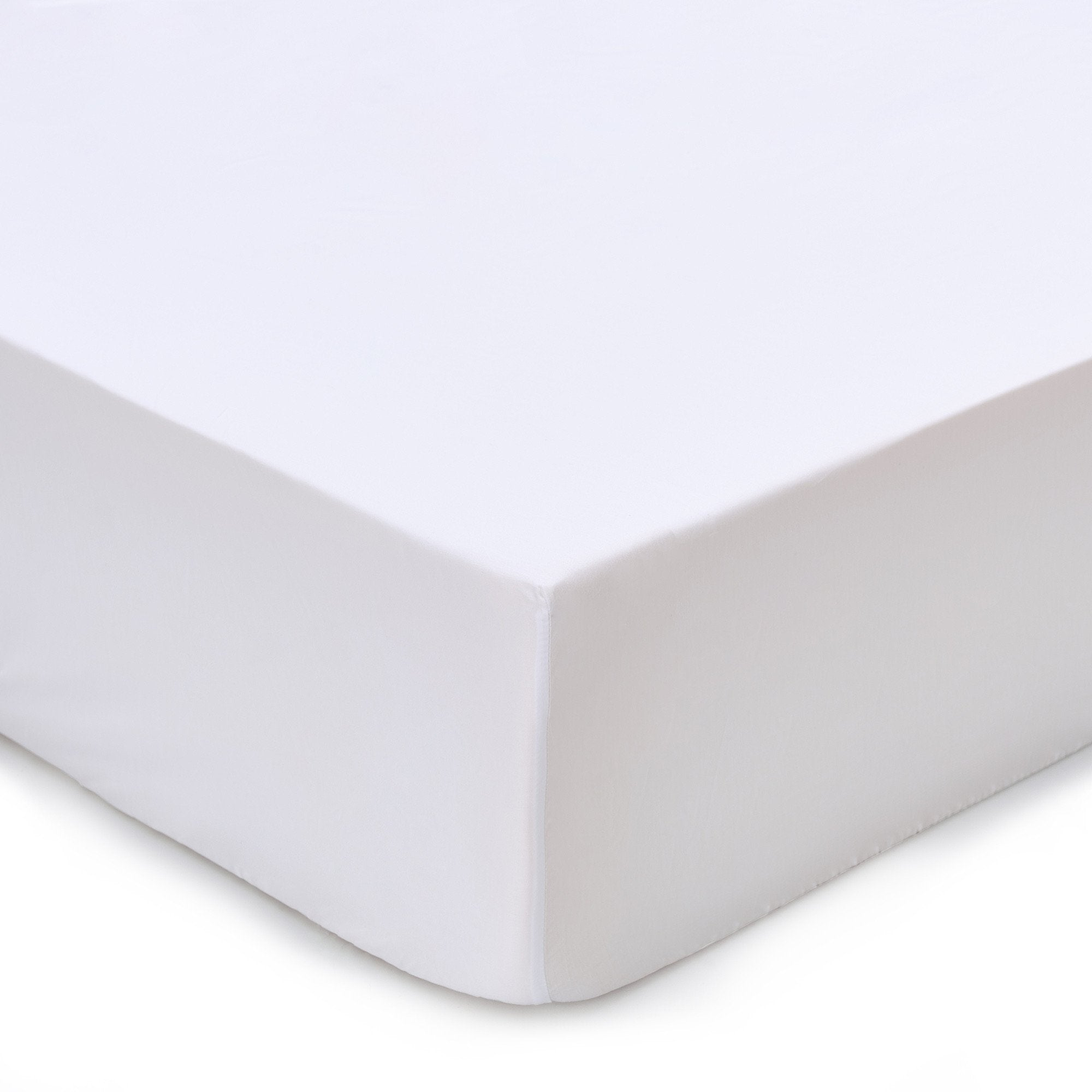 Marseille fitted sheet, white, 100% cotton