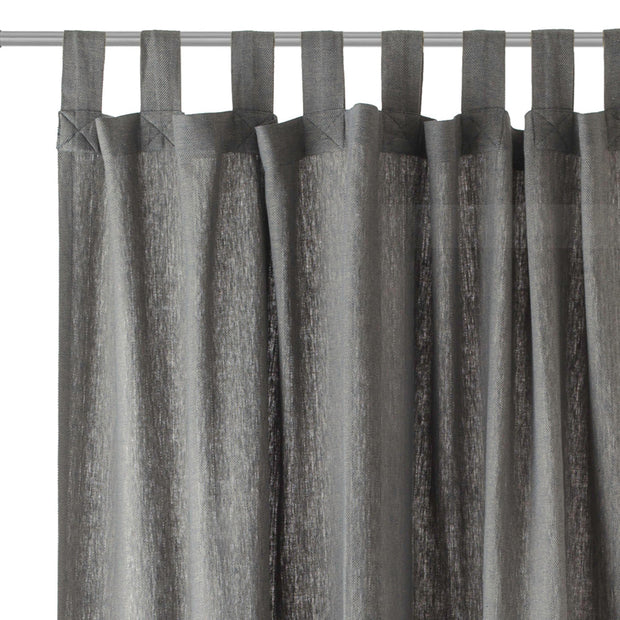 Vinstra curtain, blue & beige, 100% linen | URBANARA curtains