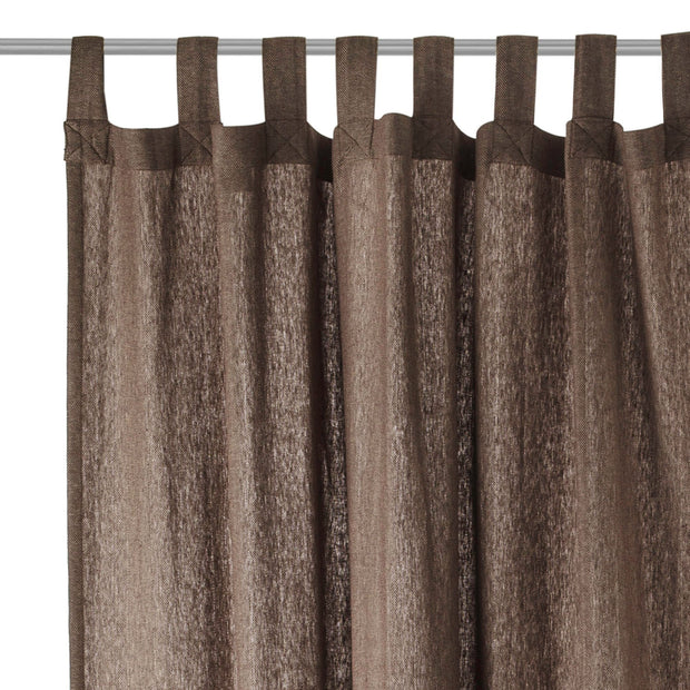 Vinstra curtain, brown & beige, 100% linen | URBANARA curtains