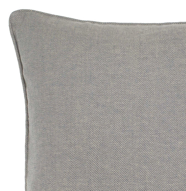 Vinstra cushion cover, blue & beige, 100% linen | URBANARA cushion covers
