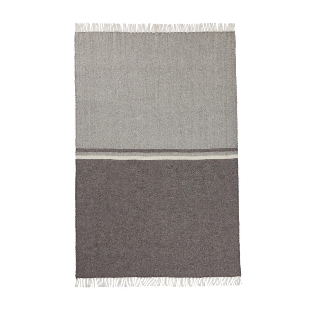 Salakas Wool Blanket brown & grey, 100% new wool | URBANARA wool blankets
