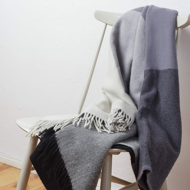 Caracas Merino Blanket in black & grey & cream | Home & Living inspiration | URBANARA
