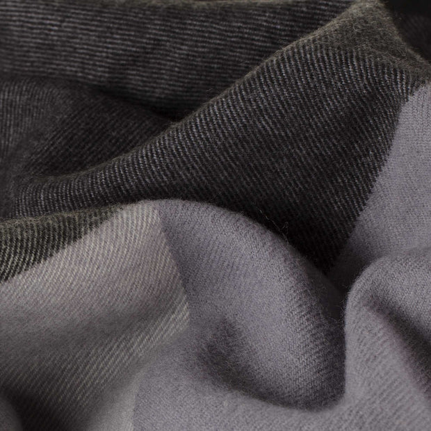 Caracas Merino Blanket black & grey & cream, 100% merino wool | High quality homewares