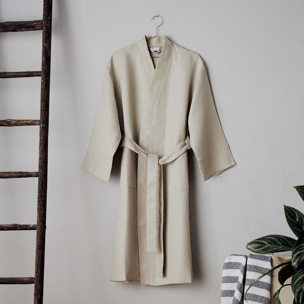 Kotra Bathrobe in beige & ivory | Home & Living inspiration | URBANARA
