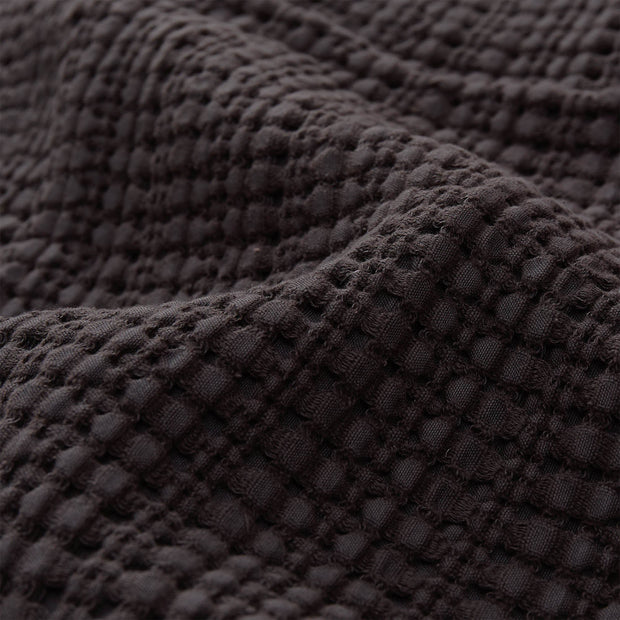 Anadia Cotton Quilt charcoal, 100% cotton | URBANARA bedspreads & quilts