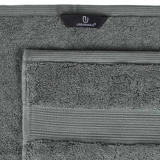 Salema hand towel, grey, 100% supima cotton | URBANARA cotton towels