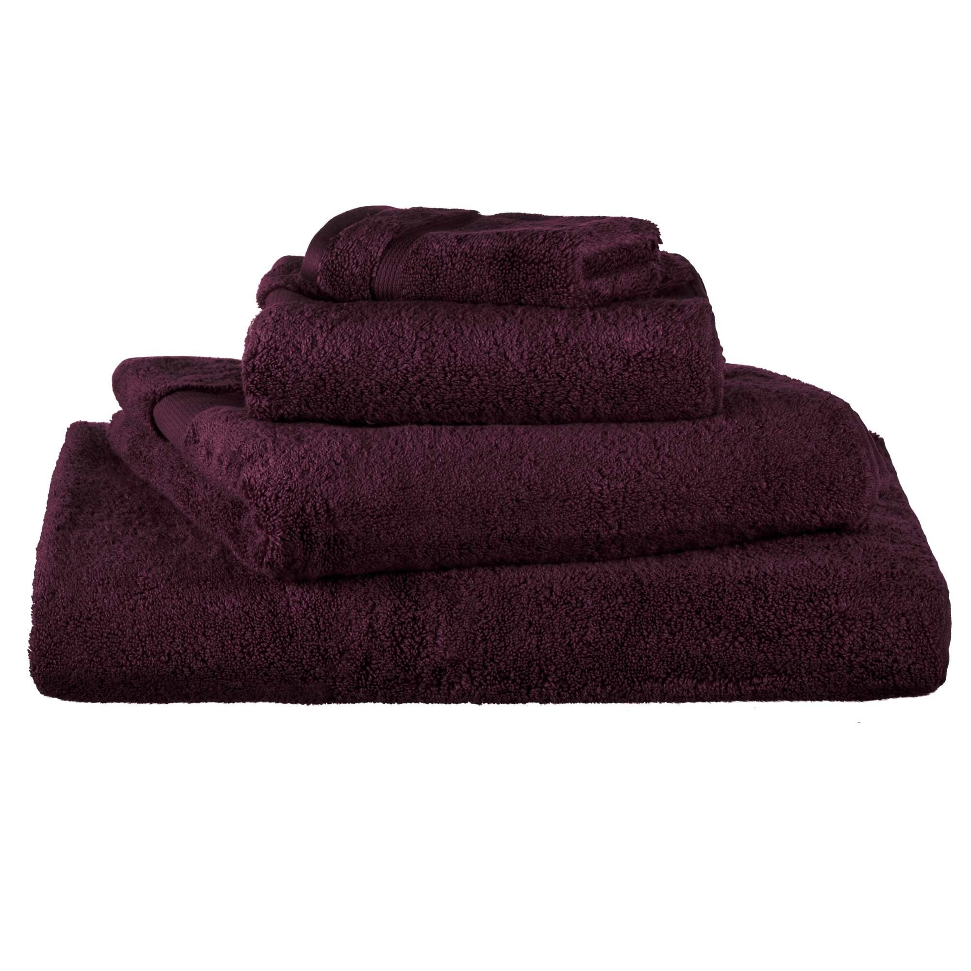 Alvito hand towel, bordeaux red, 100% zero twist cotton