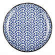 Onuma plate, white & blue, 100% ceramic